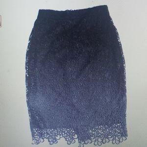 Nikibiki Black Lace Pencil Skirt New